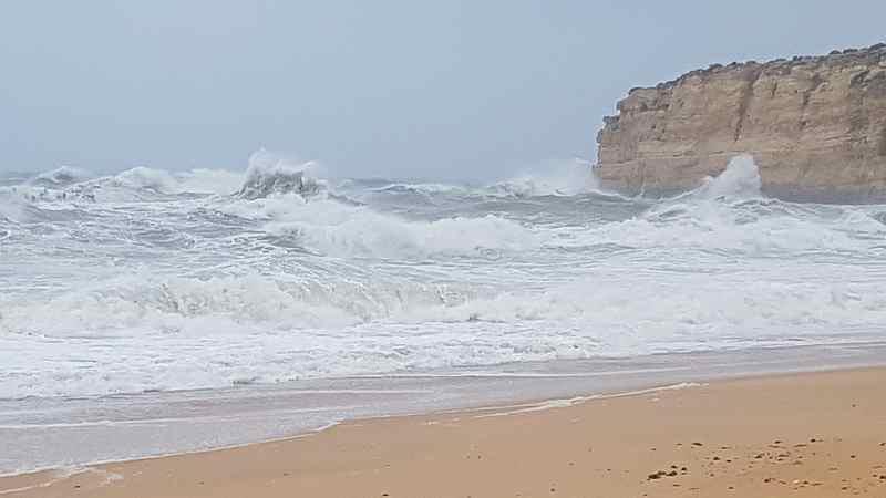 Ein Sturm zieht auf: bis zu 50 Knoten Wind, 4 Meter Welle, Walstrandung, Überschwemmungen und ein verlorenes Nummernschild